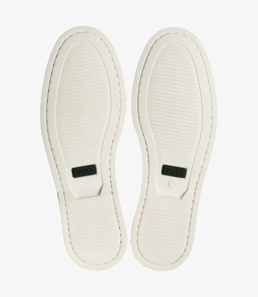 Loake Moccasin White Rubber Deck Sole